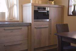 Landelijke keuken in white wash afwerking
