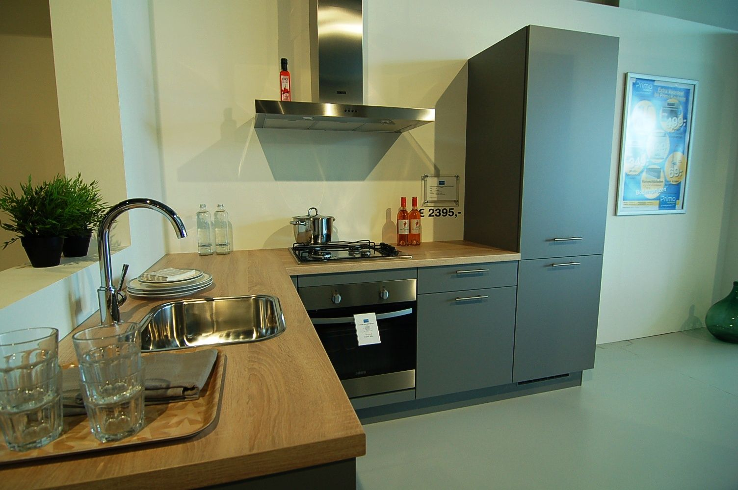 Matte Mineraal grijze keuken